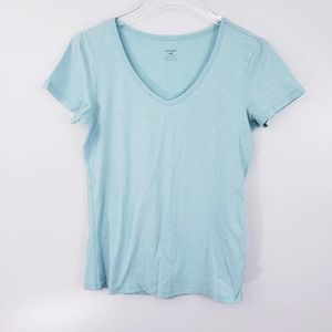 Horny Toad Light Blue V-Neck Marley Tee Size Small